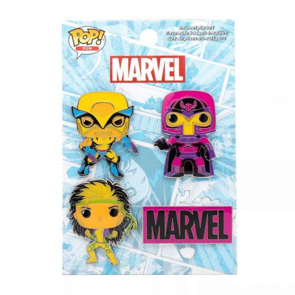 Funko Pop! Marvel X-Men Classic - 4pk Black Light Enamel Pins