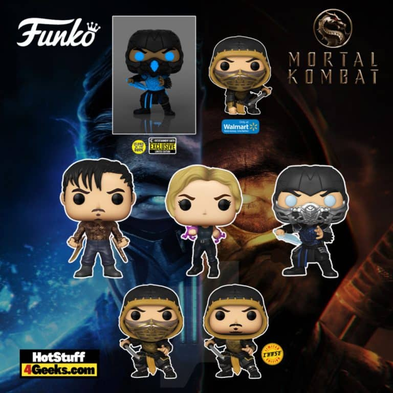 Funko Pop! Movies: Mortal Kombat 2021 - Sub-Zero, Sonya Blade, Cole Young, Scorpion With Chase Variant, Sub-Zero Glow-in-the-Dark, and Scorpion (Action Pose) Funko Pop! Vinyl Figures
