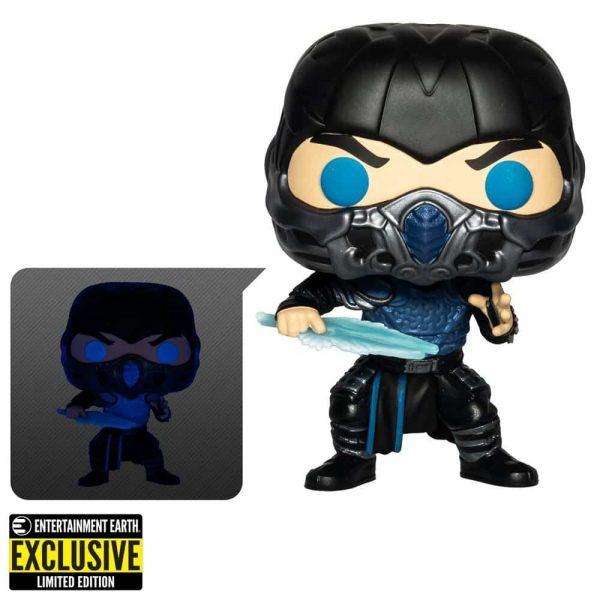 Funko Pop! Movies: Mortal Kombat 2021 - Sub-Zero Glow-in-the-Dark (GITD) Funko Pop! Vinyl Figure - Entertainment Earth Exclusive