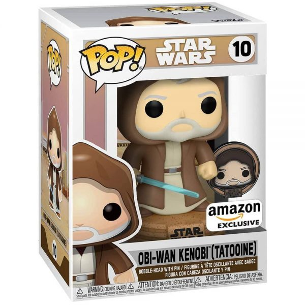 Funko Pop! Star Wars: Across The Galaxy - OBI Wan Kenobi with Special Edition Pin Funko Pop! vinyl Figure - Amazon Exclusive