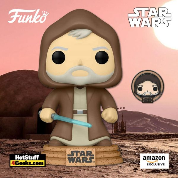 Funko Pop! Star Wars: Across The Galaxy - Obi-Wan Kenobi with Special Edition Pin Funko Pop! Vinyl Figure - Amazon Exclusive