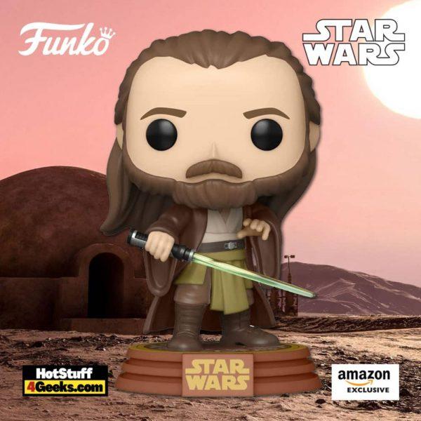 Funko Pop! Star Wars: Across The Galaxy - Qui-Gon Jinn (Tattooine) Funko Pop! Vinyl Figure - Amazon Exclusive