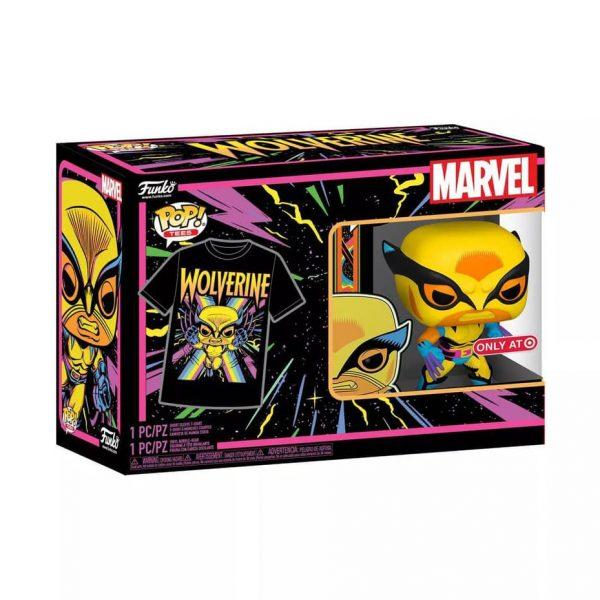 Funko Pop! Tee: Marvel X-Men Classic - Wolverine Black Light Collector's Box Funko Pop! Vinyl Figure and Tee - Target Exclusive