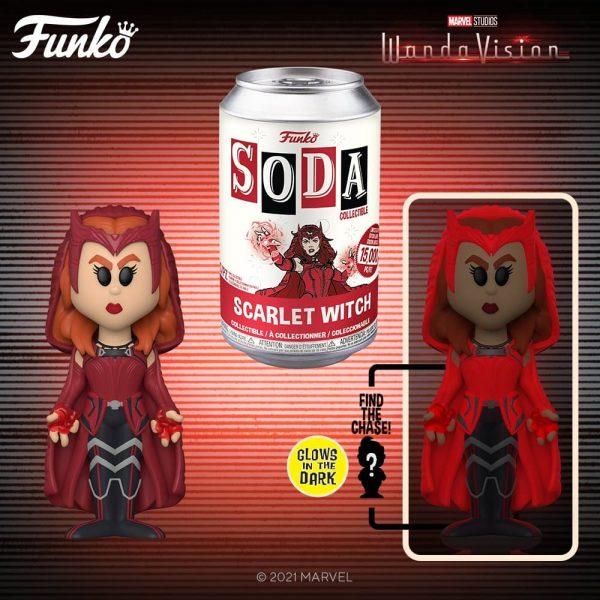 Funko Vinyl Soda: Marvel WandaVision – Scarlet Witch Vinyl Soda Figure With Glow In The Dark (GITD) Chase Variant