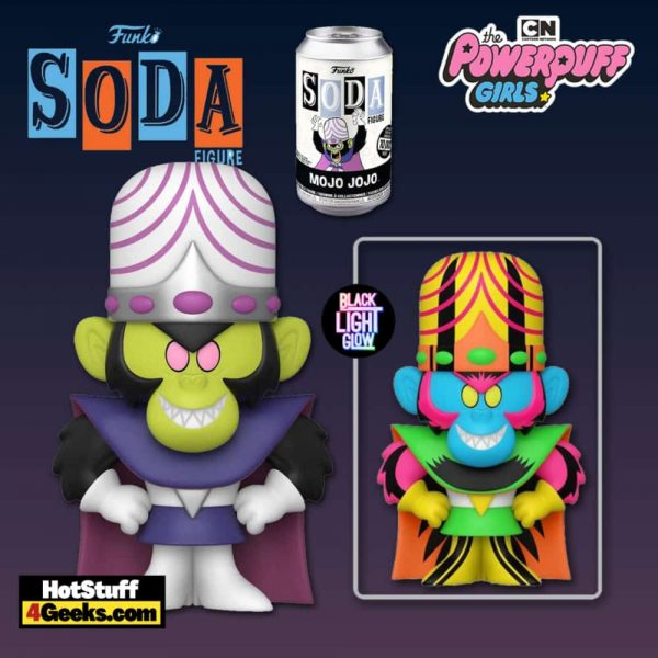 Funko Vinyl Soda: Powerpuff Girls - Mojo Jojo Vinyl Soda Figure With Black Light Glow Chase