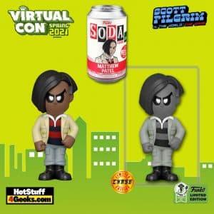 Funko Vinyl Soda: Scott Pilgrim vs. the World - Matthew Patel Vinyl Soda Figure With Chase Variant - ECCC 2021 and Newbury Comics Shared Exclusive