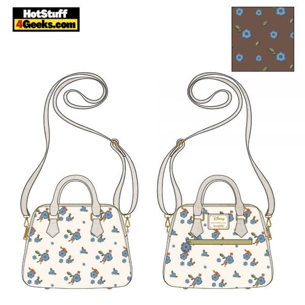 Loungefly Disney: Fox and Hound AOP Floral Crossbody - March 2021 pre-orders coming on April 2021