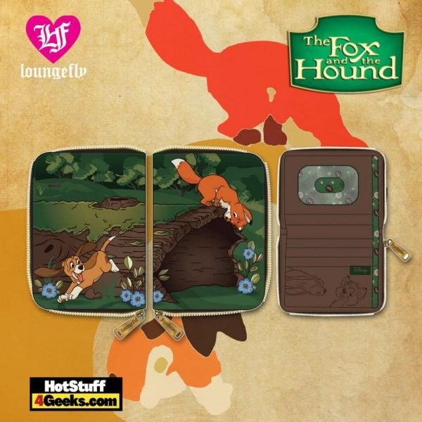 Loungefly Disney: Fox and Hound Copper and Tod Zip Around Wallet - March 2021 pre-orders coming on April 2021