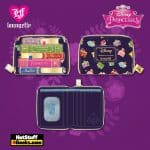 Loungefly Disney Princesses Books AOP Zip-Around Wallet - March 2021 pre-orders coming on April 2021