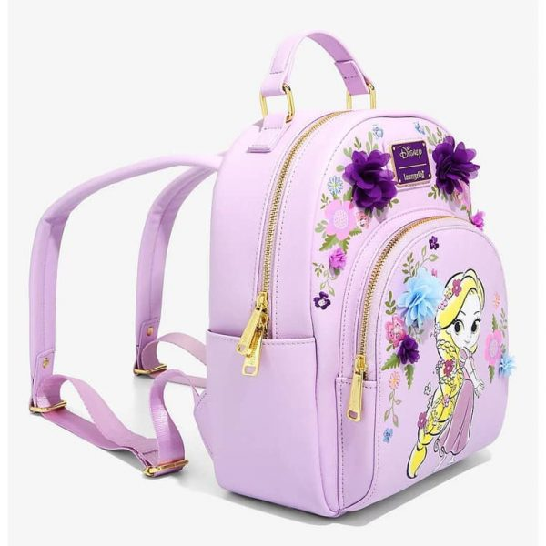Loungefly Disney Tangled Chiffon Flowers Mini Backpack - BoxLunch Exclusive