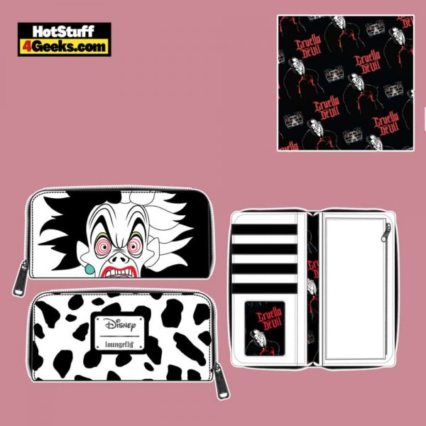 Loungefly Disney Villains Cruella de Vil Spots Cosplay Zip Around Wallet - April 2021 pre-orders coming on May 2021