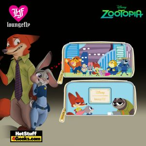 Loungefly Disney Zootopia Chibi Group Zip Around Wallet - April 2021 pre-orders coming on May 2021