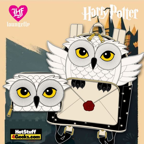 Loungefly Harry Potter Hedwig Howler Mini Backpack and Wallet - March 2021 pre-orders coming on April 2021