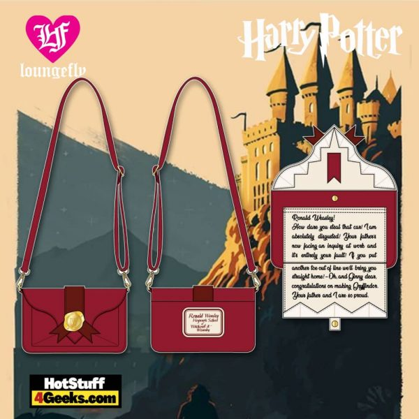 Loungefly Harry Potter Weasley Howler Mail Crossbody - March 2021 pre-orders coming on April 2021