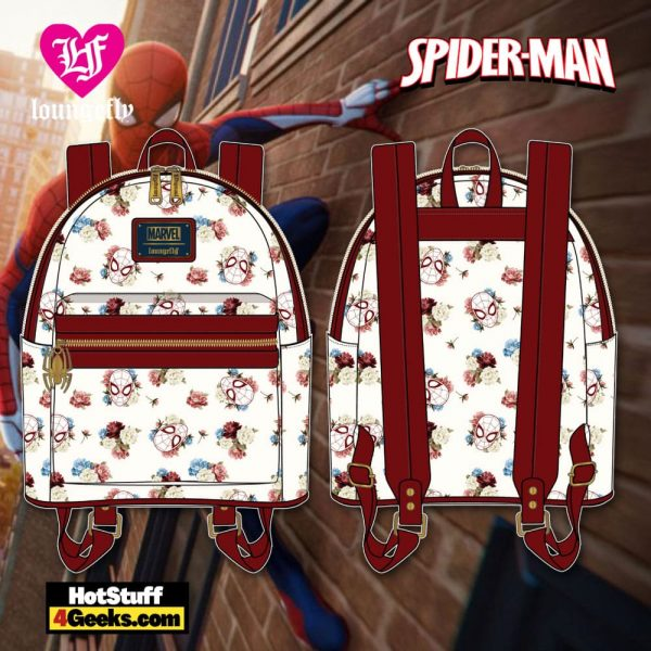 Loungefly Marvel Spiderman Floral Mini Backpack - March 2021 pre-orders coming on April 2021