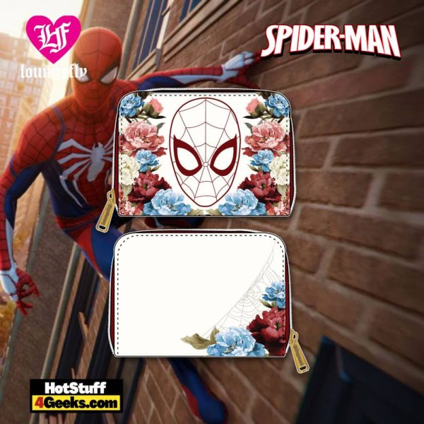 Loungefly Marvel Spiderman Floral Zip Around Wallet - March 2021 pre-orders coming on April 2021