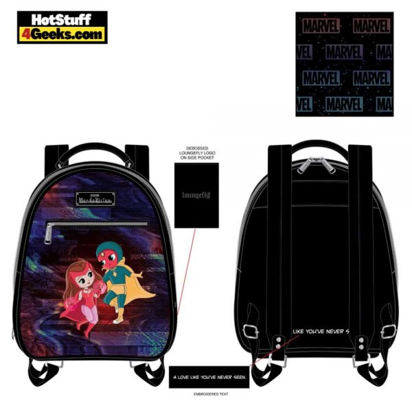 Loungefly Marvel WandaVision Chibi Mini Backpack - March 2021 pre-orders coming on April 2021