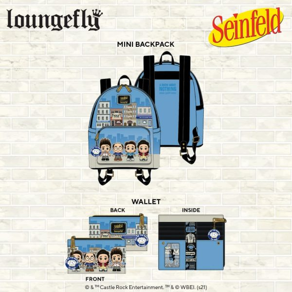 Loungefly Seinfeld City Mini Baclpack and Wallet