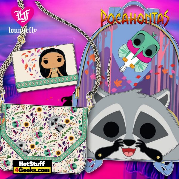 Pop by Loungefly Disney Pocahontas Meeko and Flit Earth Day Mini BAckpack, Crossbody and Wallet - March 2021 pre-orders coming on April 2021