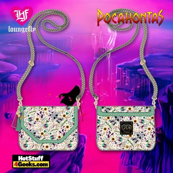 Pop by Loungefly Disney Pocahontas Meeko and Flit Earth Day AOP Crossbody - March 2021 pre-orders coming on April 2021