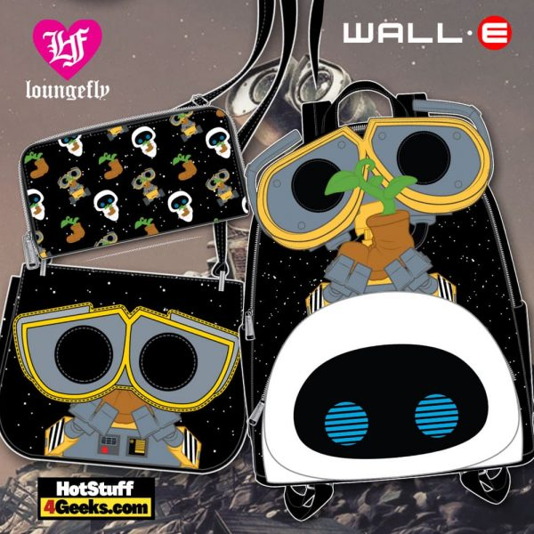 Pop by Loungefly Pixar Wall-E Earth Day Mini Backpack, crossbody and wallet - March 2021 pre-orders coming on April 2021