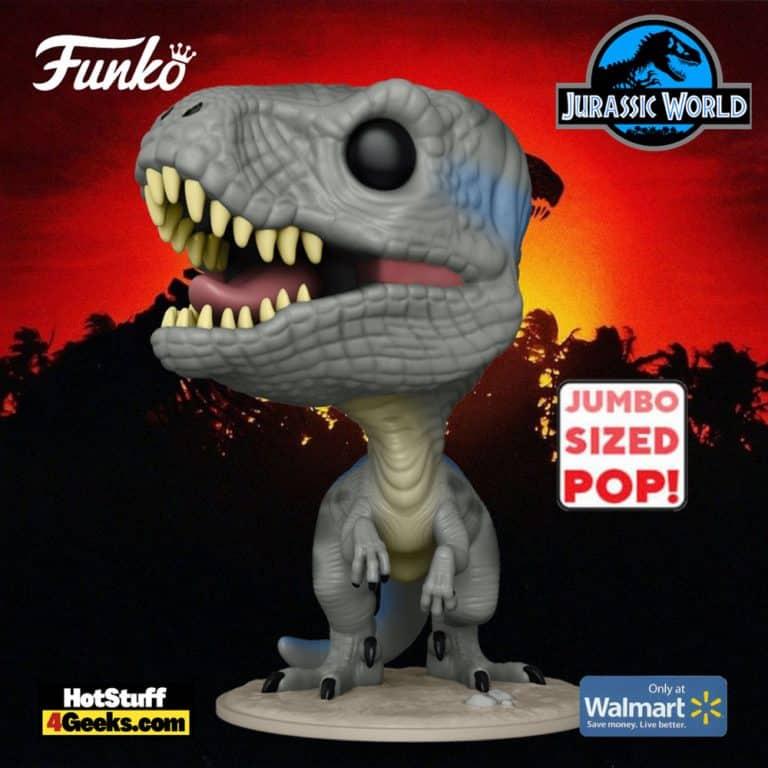 The Funko POP! Movies: Jurassic World - Blue 10-inch Jumbo Sized Funko Pop! Vinyl Figure - Walmart Exclusive