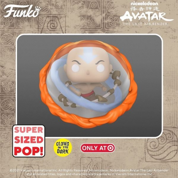 Funko POP! Animation: Avatar the Last Airbender - Aang (Avatar State) Glow In The Dark 6- Inch Jumbo Sized Funko Pop! Vinyl Figure - Target Exclusive