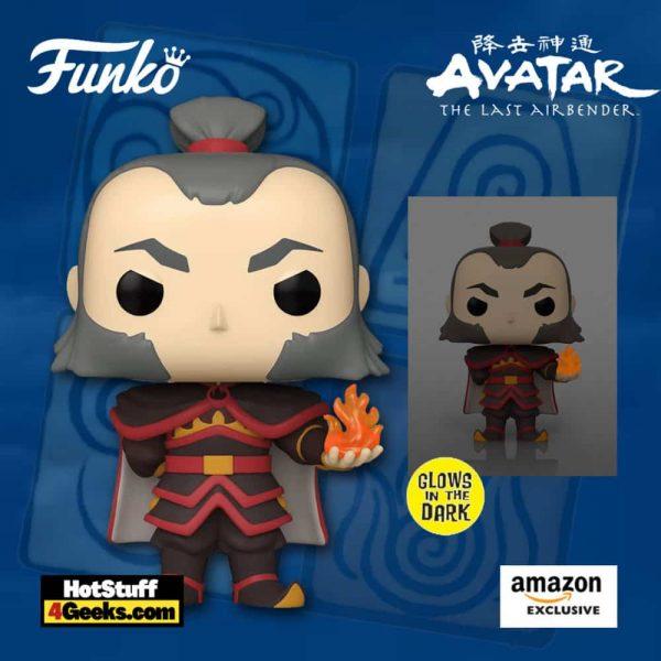 Funko Pop! Animation: Avatar: The Last Airbender - Admiral Zhao with Glow in The Dark Fireball Funko Pop! Vinyl Figure -Amazon Exclusive