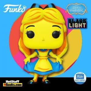 Funko Pop! Disney: Alice in Wonderland - Alice Curtsying Black Light Funko Pop! Vinyl Figure - Funko Shop Exclusive