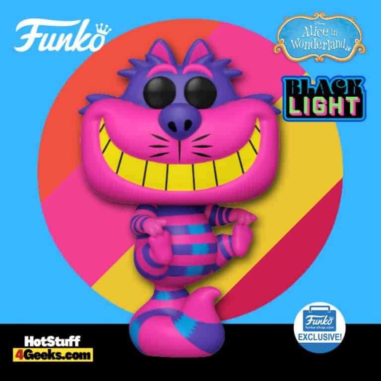 Funko Pop! Disney: Alice in Wonderland - Cheshire Cat Black Light Funko Pop! Vinyl Figure - Funko Shop Exclusive