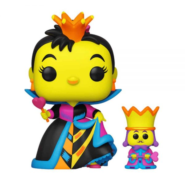 Funko Pop! Disney: Alice in Wonderland - Queen of Hearts With King Black Light Funko Pop! Vinyl Figure