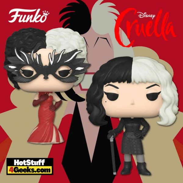 Funko Pop! Disney: Cruella - Cruella Making Art and Cruella Reveal Funko Pop! Vinyl Figures