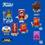 Funko Pop! Foodies: Corporate Mascot Pops - Pringles Can, Post-Fruity Pebbles Cereal Box, Hot Tamales Candy, White Castle Slider, and Kraft Mac & Cheese Box Funko Pop! Vinyl Figures