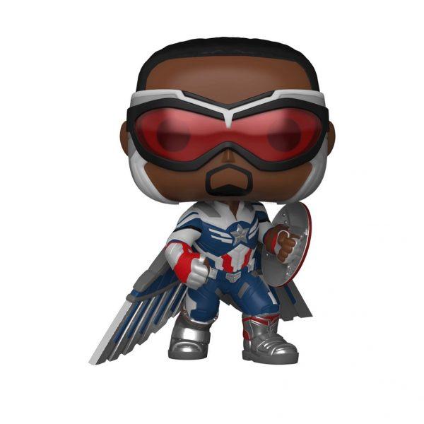 Funko Pop! Marvel: The Falcon and The Winter Soldier: Captain America (Action Pose) (Sam Wilson) Funko Pop! Vinyl Figure - GameStop Exclusive