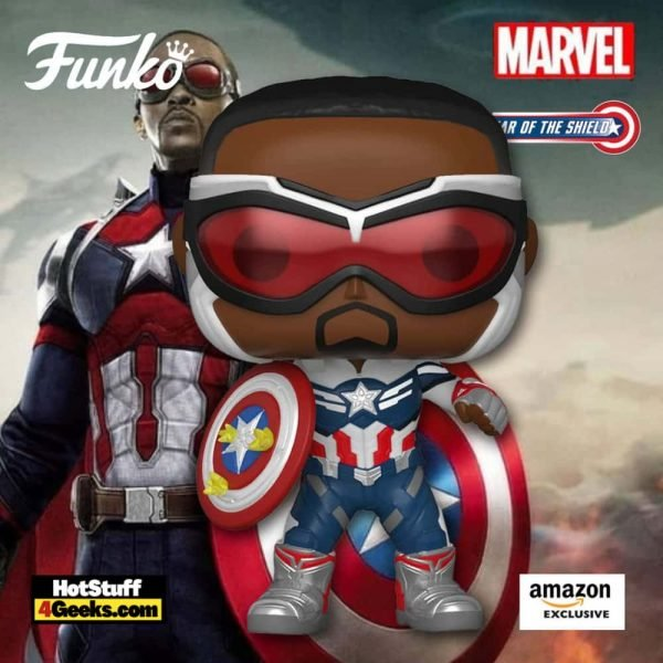 Funko Pop! Marvel: Year of The Shield: Captain America (Sam Wilson) With Shield Funko Pop! Vinyl Figure - Amazon Exclusive
