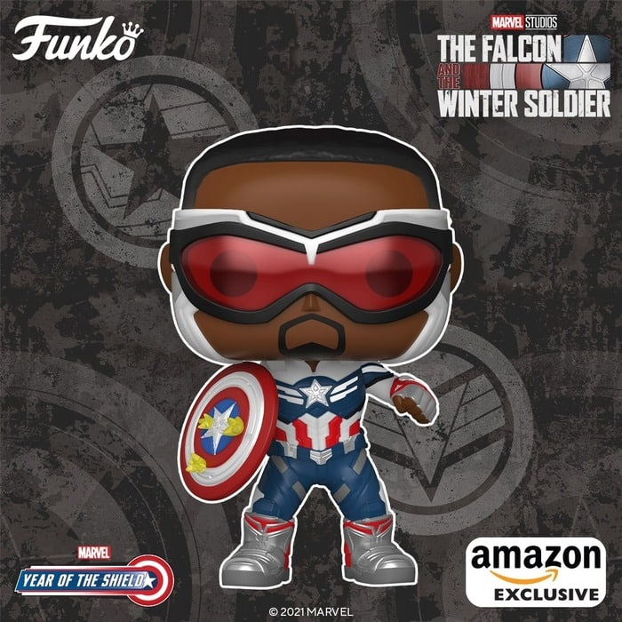 Funko Pop! Marvel: Year of The Shield: Captain America (Sam Wilson) With Shield Funko Pop! Vinyl Figure (Amazon Exclusive)