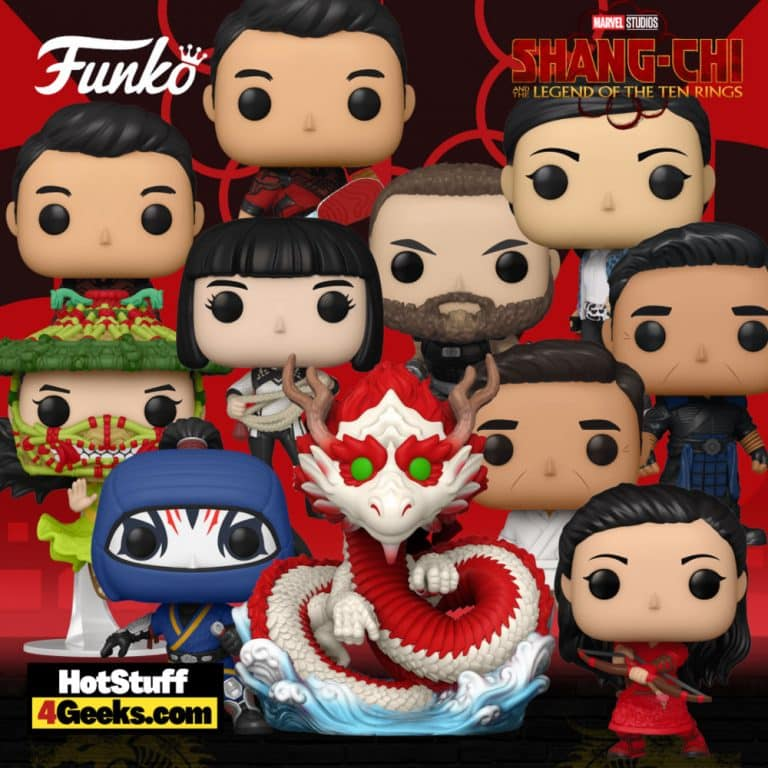 Funko Pop! Movies Shang-Chi and the Legend of the Ten Rings - Razor Fist, Jiang Li, Wen Wu, Xialing, Katy, Shang-Chi, The Great Protector, Death Dealer, Wenwu and Katy Funko Pop! Vinyl Figures Wave 1