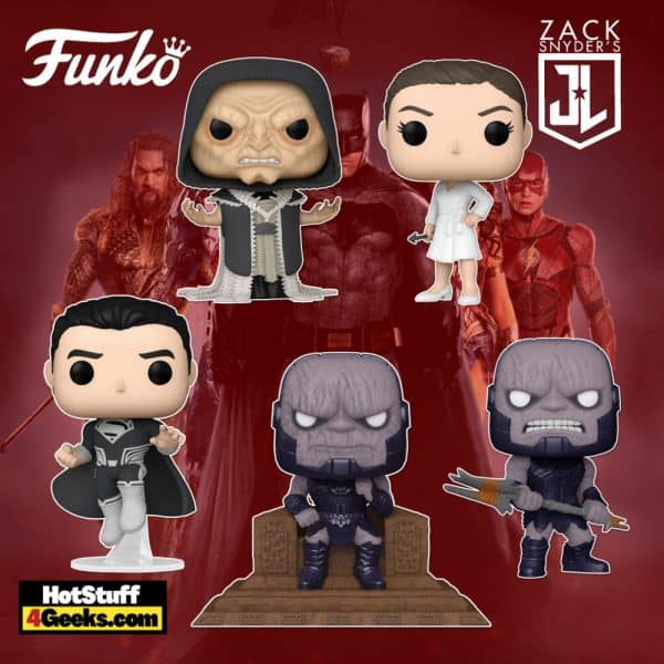 Funko Pop! Movies: Zack Snyder's Justice League - Darkseid, DeSaad, Darkseid Throne, Superman Black Suit, and Wonder Woman Funko Pop! Vinyl Figure