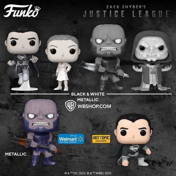 Funko Pop! Movies: Zack Snyder's Justice League - Darkseid, DeSaad, Darkseid Throne, Superman Black Suit, and Wonder Woman Funko Pop! Vinyl Figures