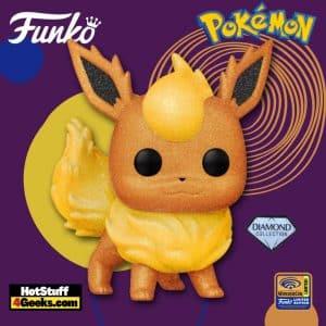 Funko Pop! Pokemon: Flareon Diamond Glitter Collection Funko Pop! Vinyl Figure - Wondercon and Wondrous Convention 2021 and Fye Shared Exclusive