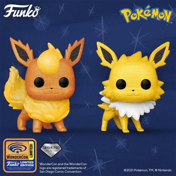 Funko Pop! Pokemon: Jolteon Diamond Glitter Collection Funko Pop! Vinyl Figure - Wondercon and Wondrous Convention 2021 and BoxLunch Shared Exclusive