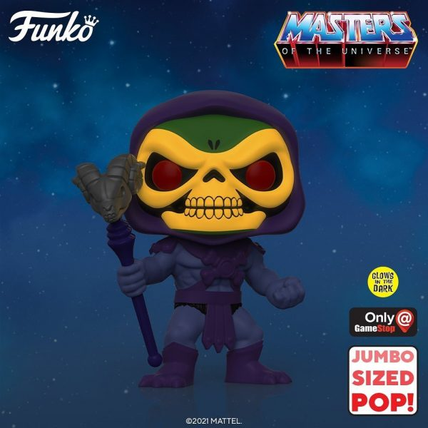 Funko Pop! Retro Toys: Masters of The Universe: Skeletor Glow-In-The-Dark (GITD) 10-inch Jumbo Size Funko Pop! Vinyl Figure - GameStop Exclusive