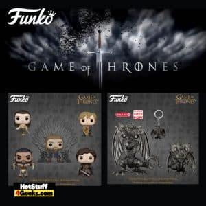 Funko Pop! Television: Game of Thrones 10th Anniversary - Khal Drogo, Robb Stark with Sword, Arya Training, Tyrion with Shield, Ned Stark on Throne, Drogon Iron Deco, Drogon Iron Deco (Walmart Exclusive) Funko Pop! Vinyl Figures