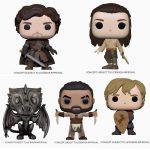 Funko Pop! Television: Game of Thrones 10th Anniversary - Khal Drogo, Robb Stark with Sword, Arya Training, Tyrion with Shield, Ned Stark on Throne, Drogon Iron Deco, Drogon Iron Deco (Target Exclusive) Funko Pop! Vinyl Figures