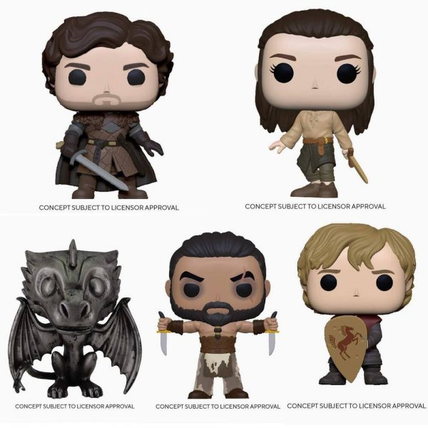 Funko Pop! Television: Game of Thrones 10th Anniversary - Khal Drogo, Robb Stark with Sword, Arya Training, Tyrion with Shield, Ned Stark on Throne, Drogon Iron Deco, Drogon Iron Deco (Target Exclusive) Funko Pop! Vinyl Figures