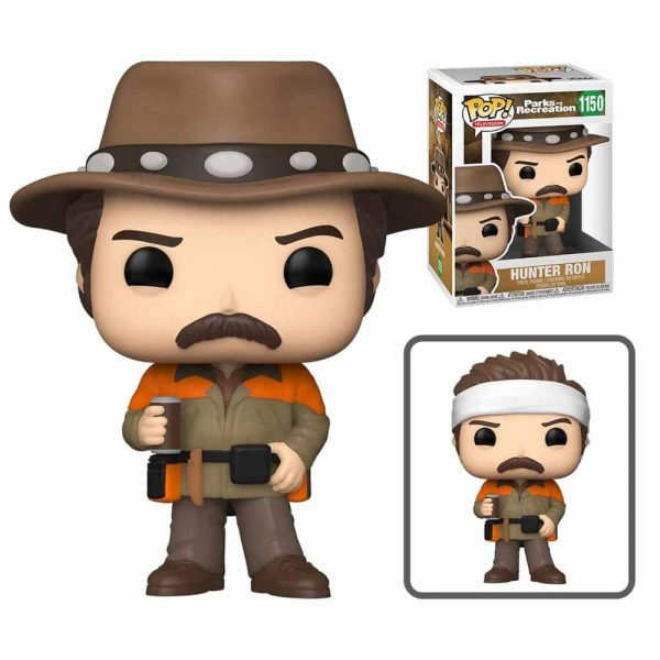 Funko Pop! Television Parks and Recreation - Hunter Ron Swanson With Chase Funko Pop! Vinyl Figure