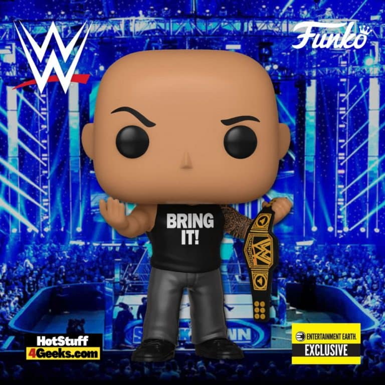 Funko Pop! WWE:  The Rock with Championship Belt Funko Pop! Vinyl Figure - Entertainment Earth Exclusive
