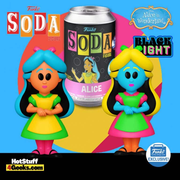 Funko Vinyl Soda: Alice in Wonderland – Alice Black Light Vinyl Soda Figure With Chase - Funko Shop Exclusive