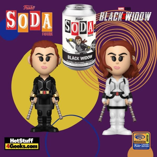 Funko Vinyl Soda: Marvel Studios: Black Widow Vinyl Soda Figure - Wondercon, Wondrous Convention 2021, and Funko Shop Shared Exclusive