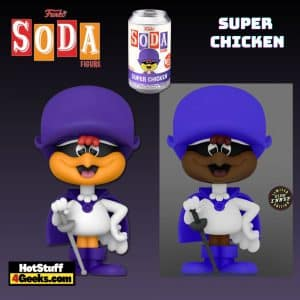 Funko Vinyl Soda: Super Chicken Vinyl Soda Figure With Glow-In-The-Dark Chase